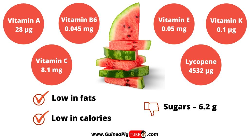 Nutrition Facts of Watermelon for Guinea Pigs